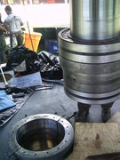 Rock Climbing Photo: The hollow shaft assembly, now cold, will be place...
