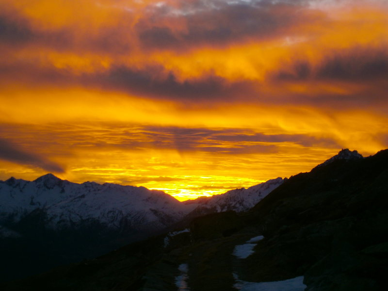 Sunset as seen from Oberalp