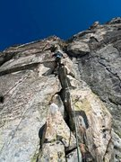 Rock Climbing Photo: Pitch one, 6a+