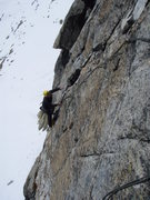 Rock Climbing Photo: Pitch three, 6a-