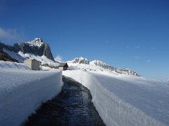 Rock Climbing Photo: Gross Schijen and the Goldkueste in late winter.