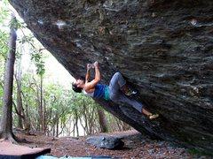 "Rock Climbing Photo: Aaron James Parlier on the FA of ""The Pastafa..."