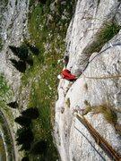 Rock Climbing Photo: Pitch three