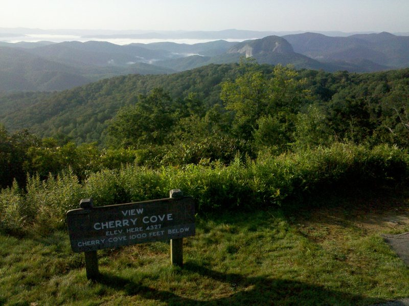 From the blue ridge parkway...