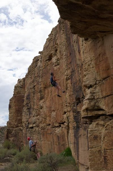Rock Climbing Photo: Profile view of the Health Wall, shot from underne...