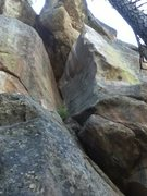 Rock Climbing Photo: Up the dihedral then left.
