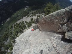 Rock Climbing Photo: Getting enduro through the crux.
