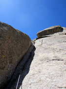 Rock Climbing Photo: Looking up at pitch 2