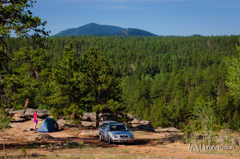 Rock Climbing Photo: Free Camping on Wagon Tongue Gulch RD at Elevenmil...
