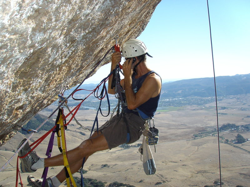 Rock Climbing Photo: This is my favorite Kelly photo. While setting up ...