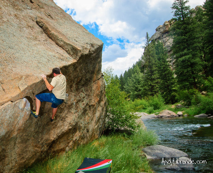 Rock Climbing Photo: Triangle Face is in such a beautiful location.   J...