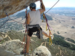 "Rock Climbing Photo: Raleigh demonstrating the rarely used ""spread..."