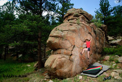 Rock Climbing Photo: Caitlin trying out some of the other boulders in t...