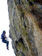 Rock Climbing Photo: Falling from the crux...