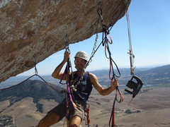 Rock Climbing Photo: Quit goofing off Kelly, those bolts don't drill th...