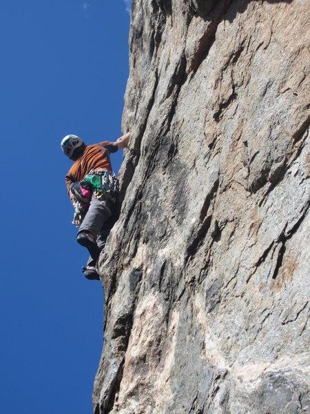 Rock Climbing Photo: Will Spaller climbing through the mental crux of j...