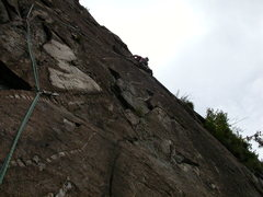 Rock Climbing Photo: Great stone in the headwall of Maggialore