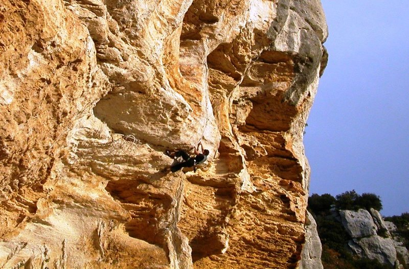 Rock Climbing Photo: Rombo Di Vento, 6c, the route of all routes at Roc...