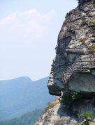 Rock Climbing Photo: Third Pitch of The Prow, Linville Gorge NC