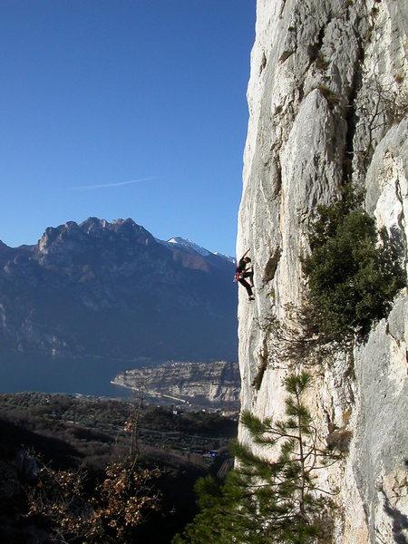 Climbing at the Nago crag