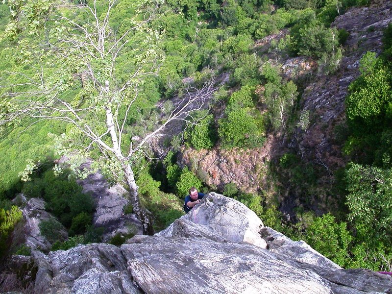 Rock Climbing Photo: In the steeper upper half of Sperone
