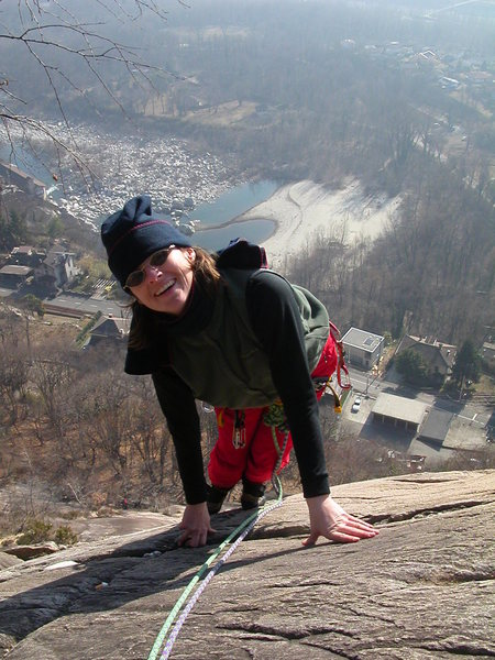 Rock Climbing Photo: On the slabs above Ponte Brolla on a pleasant day ...