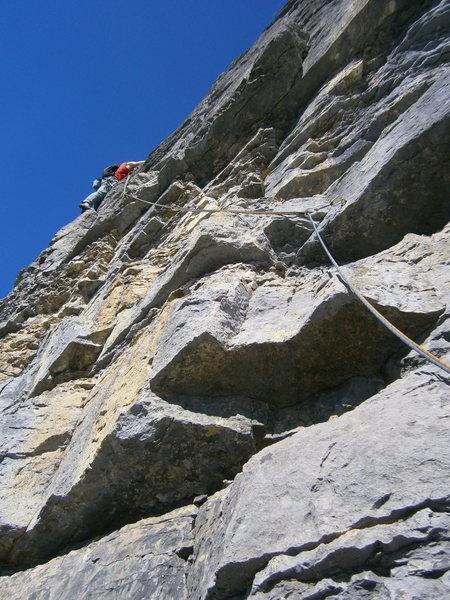 Rock Climbing Photo: Pitch four
