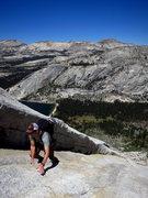 Rock Climbing Photo: Tim on Tenaya Peak. 7/2012.   Photo: Corey Gargano