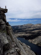 Rock Climbing Photo: Christina scopes the view from the summit of Tenay...