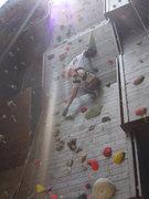 Rock Climbing Photo: James Island County Park climbing wall.(climbs cha...