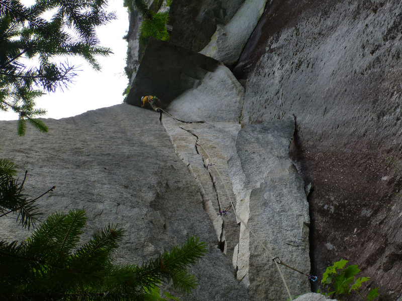 negotiating the roof on the 2nd pitch