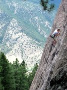 Rock Climbing Photo: Kristin Knudson Flashing Fin Du Monde.  Sandbagged...