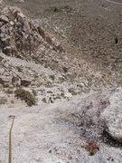 Rock Climbing Photo: Rick Poedtke following on Silver Streak
