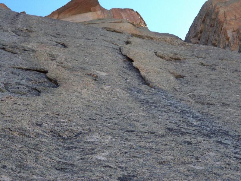the wafer. super good climb, bad photo