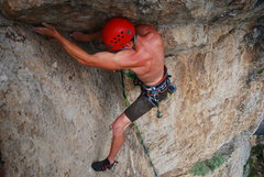 Rock Climbing Photo: The heartbreaking last moves. Photo taking an inst...