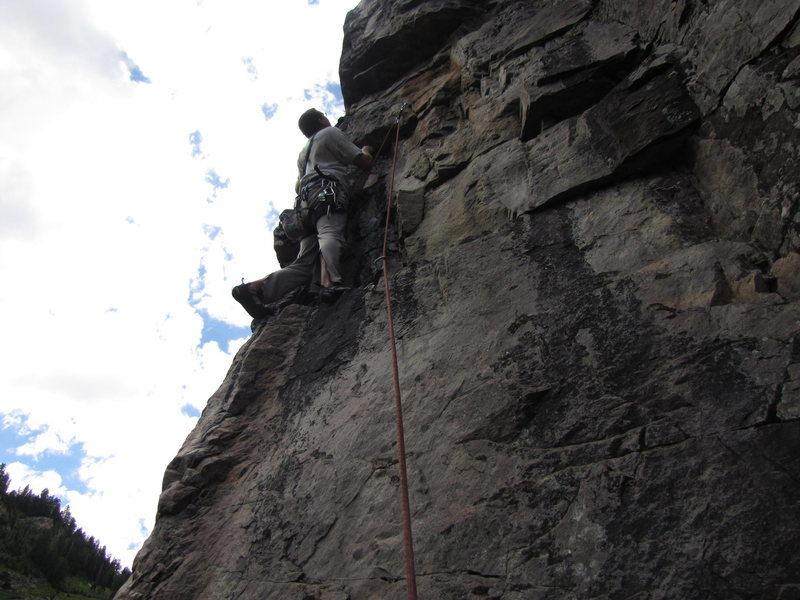 Rock Climbing Photo: The crux of Jelly stone.