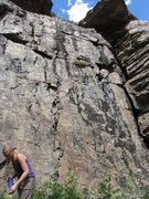 Rock Climbing Photo: Climb the line strait above Kim.