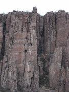 Rock Climbing Photo: Climbers atop the pole