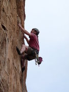 Rock Climbing Photo: At the redpoint crux