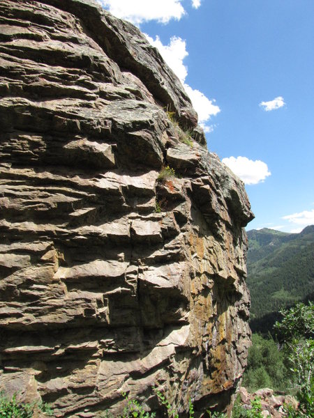 Rock Climbing Photo: fallow the bolt line on the left of this picture. ...