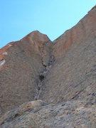 Rock Climbing Photo: stemming corner from below