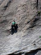 Rock Climbing Photo: Past the crux...