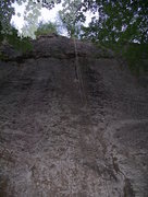 Rock Climbing Photo: Face Up To That Crack (And beware of hornets' nest...
