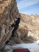 Rock Climbing Photo: Thing 1 Boulder, V6 variation