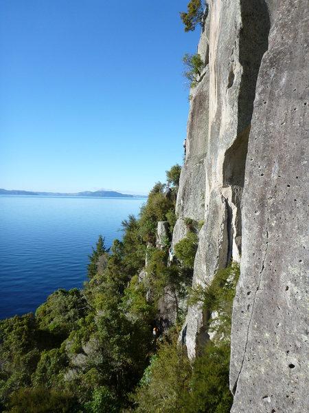Rock Climbing Photo: View down Whekanui
