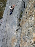 Rock Climbing Photo: Elegant face climbing on the Südpfeiler route