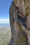 Rock Climbing Photo: Long and thin moves