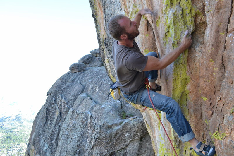 Rock Climbing Photo: navigating the groove moves