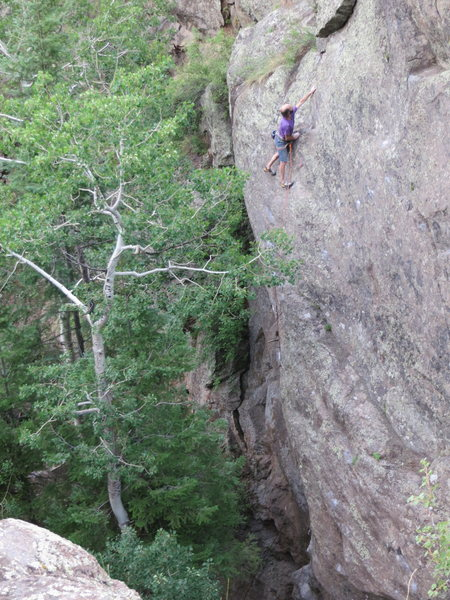 Rock Climbing Photo: David on the top out of Whistling Wabash.
