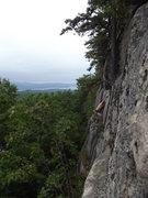 Rock Climbing Photo: Middle crux move